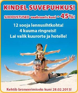 Reisikorraldaja Novatours käive kasvas aastaga 21 protsenti