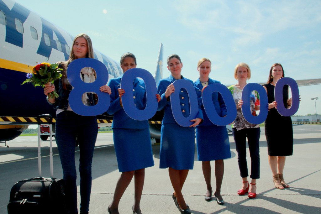 Ryanairil täitus Tallinnas 800 000 reisijat