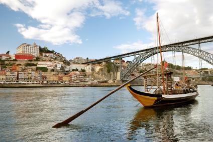 rabelo boats near Bridge (Porto)