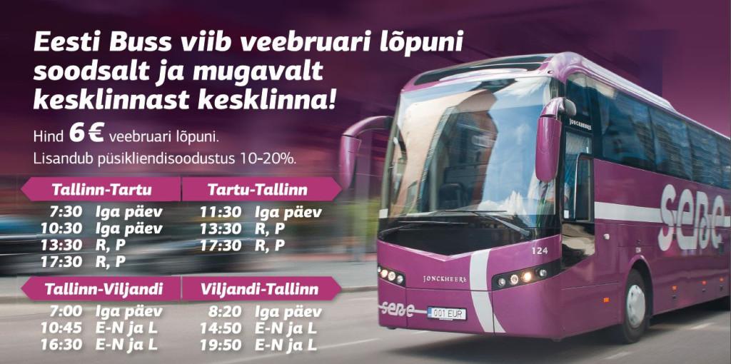 Eesti Buss langetab Tallinn-Viljandi liini hinda
