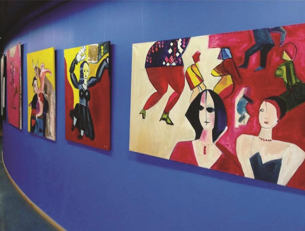 Hispaania kunstniku näitus lennujaama galeriis