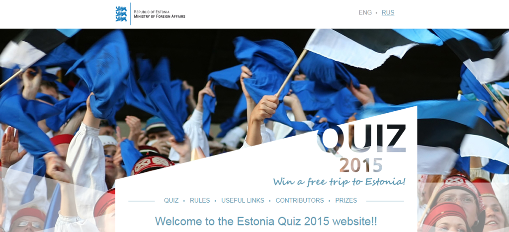 Eesti-teemalise viktoriini peaauhinnaks on reis kahele Eestisse