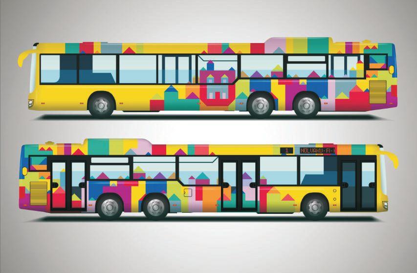 VALI UUS BUSSIKUJUNDUS! Linn kutsub tartlasi valima uut bussikujundust