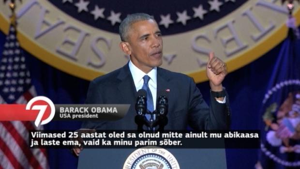 Vaata videot! Barack Obama viimane ning ääretult emotsionaalne kõne presidendina