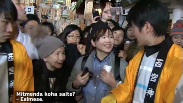 Jaapani traditsioonid: inimesed kogunevad uuel aastal, et joosta lähemale oma õnnele
