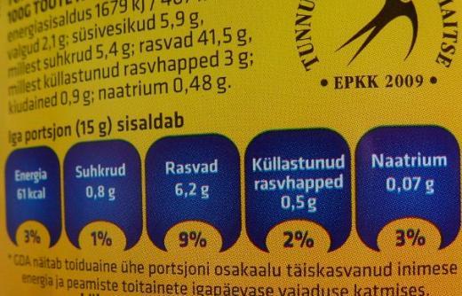 Toitumisalane teave pakendil aitab teha toidupoes targemaid valikuid