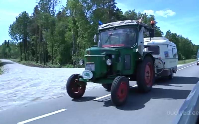 VIDEO! 81-aastane saksa härra rändab traktoriga mööda Euroopat