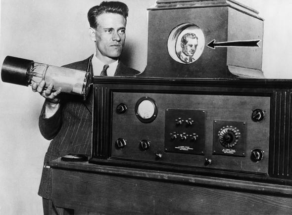 Leiutaja Philo Taylor Farnsworth Maailma esimene TV 1927