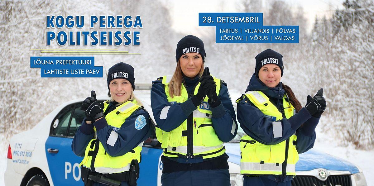 Lõuna-Eesti politseimajades on täna lahtiste uste päev