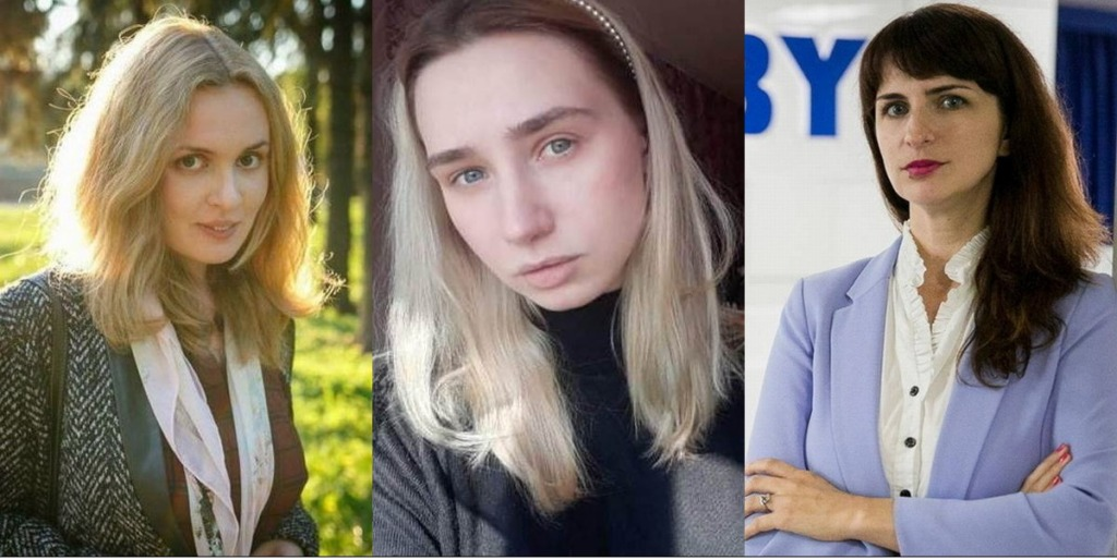 Valgevene ajakirjanikud Katsiaryna Andreyeva, Daria Chultsova, Katsiaryna Barysevich, allikas_ Belarusian Association of Journalists